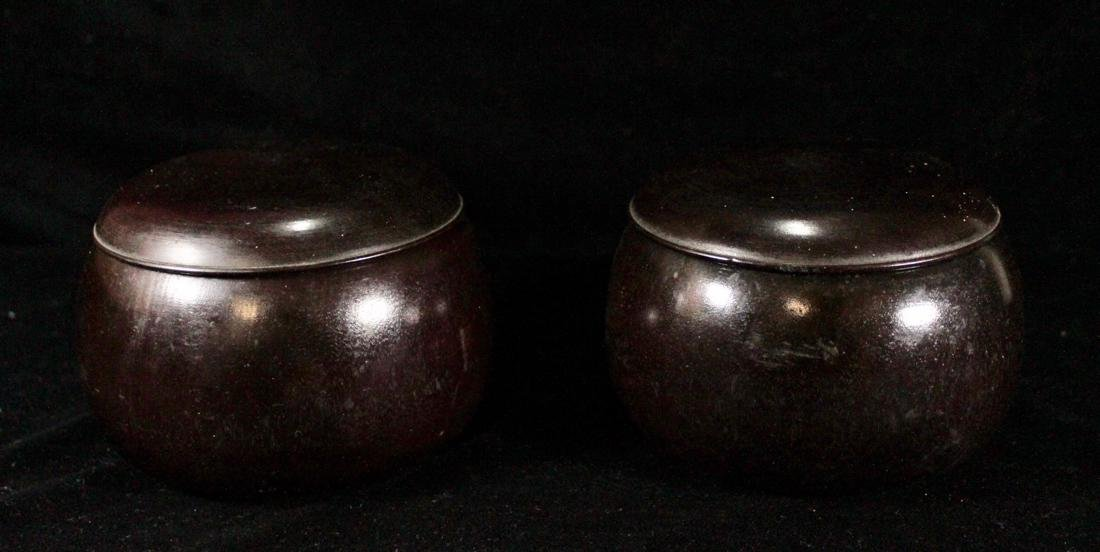Pair Japanese Go Game with Wood Container