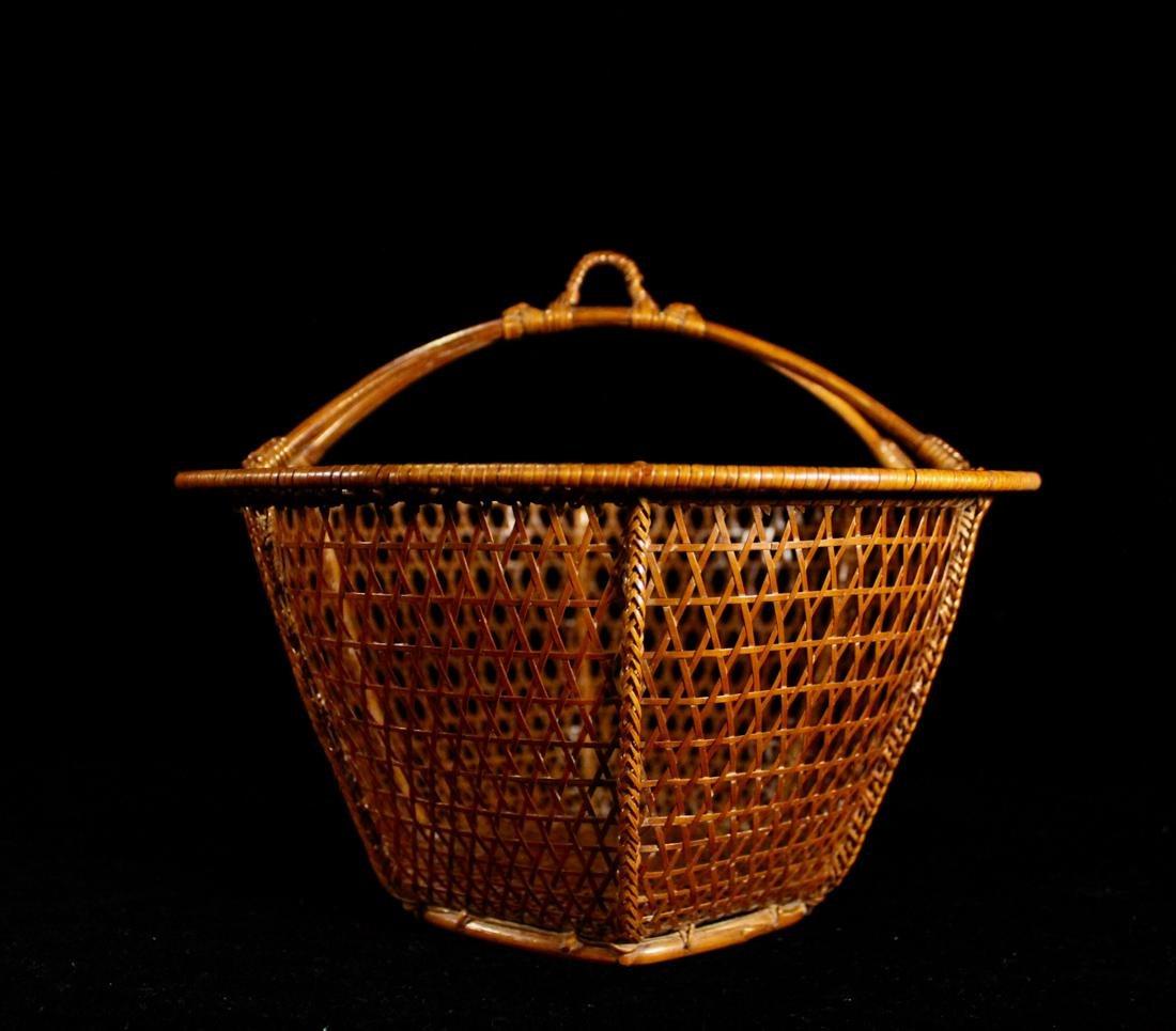 Japanese Signed Basket with Presentation Box - 3