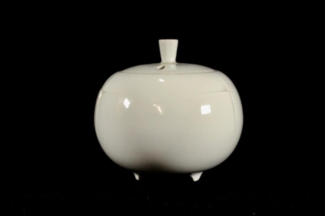 Japanese White Studio Porcelain Censer