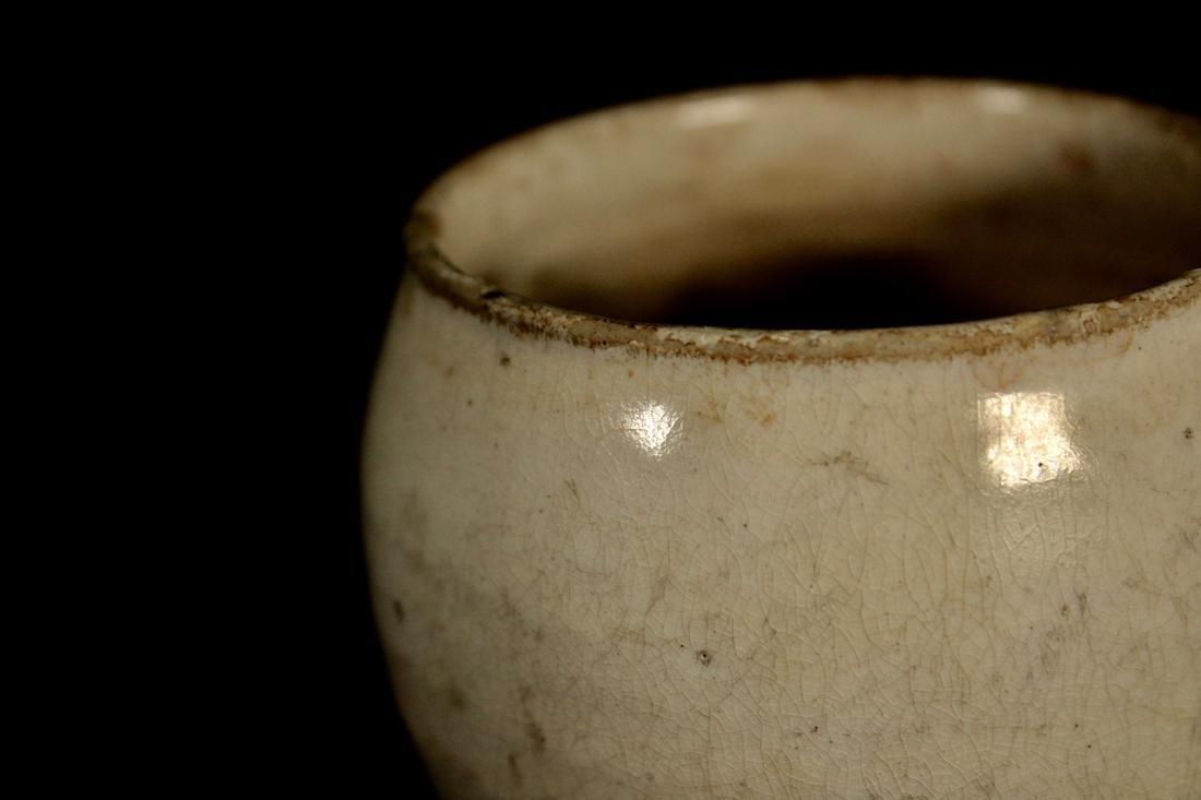 Korean White Glazed Porcelain Vase - 2