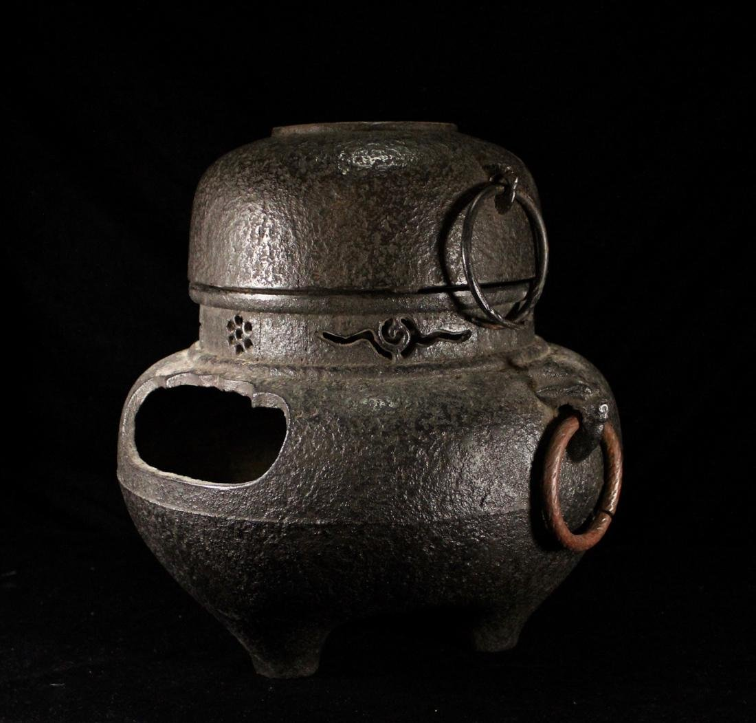 Japanese Iron Tea Censer - 3