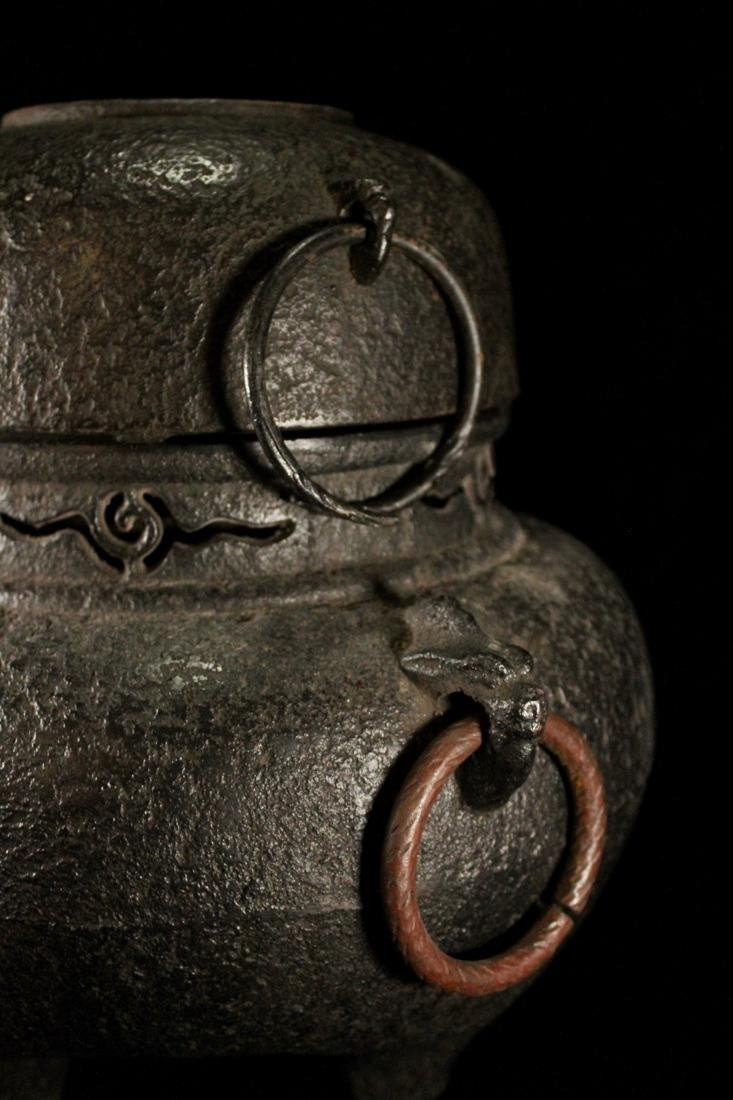 Japanese Iron Tea Censer - 4