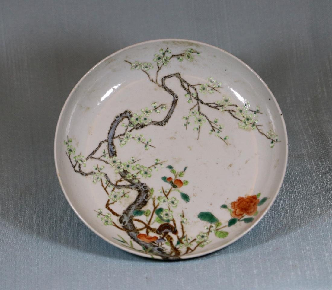 Chinese Porcelain Dish with Plum Blossom Scene