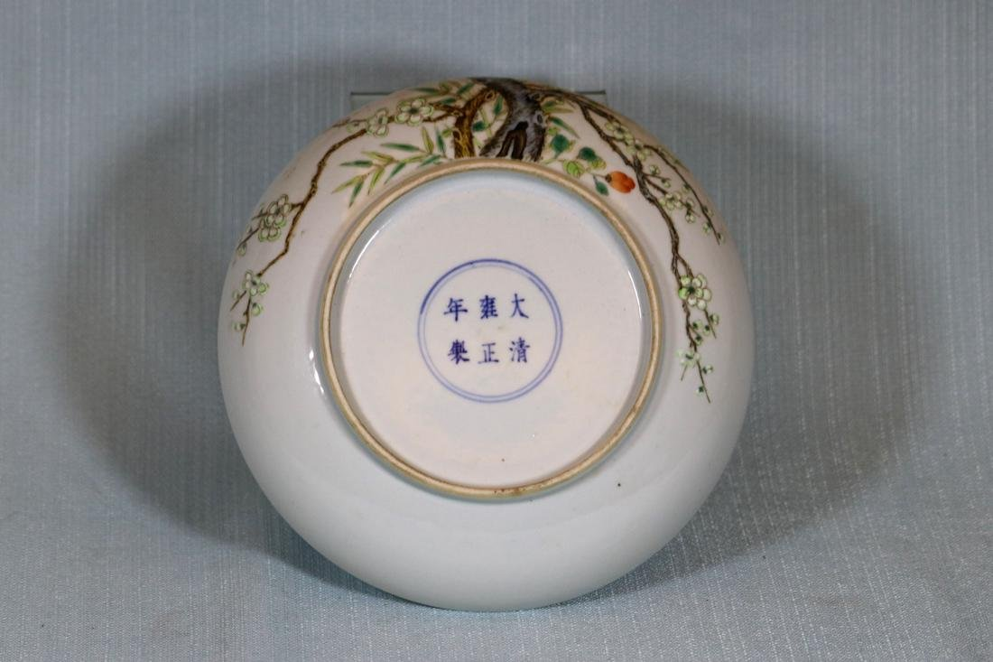 Chinese Porcelain Dish with Plum Blossom Scene - 5