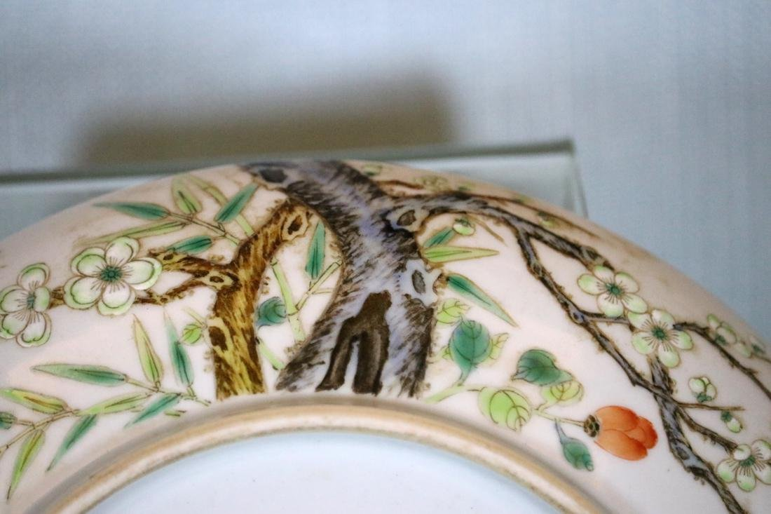 Chinese Porcelain Dish with Plum Blossom Scene - 6