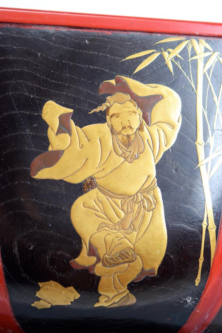 Japanese Lacquer Planeter with Immortal Scene - 2