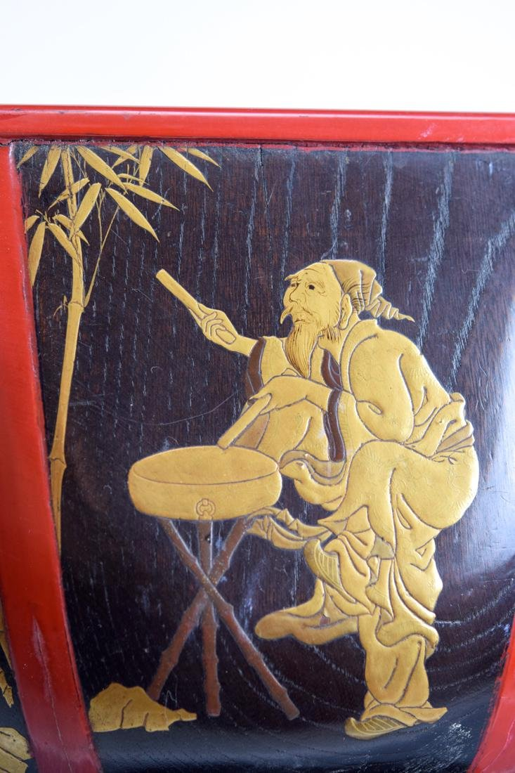 Japanese Lacquer Planeter with Immortal Scene - 5