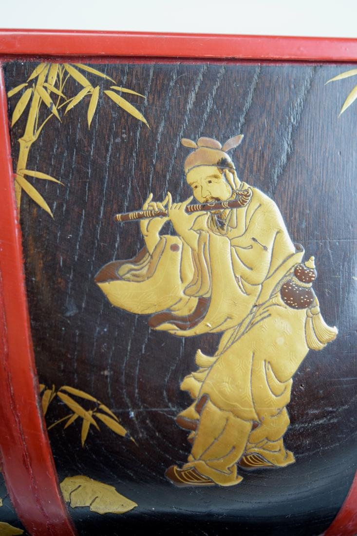 Japanese Lacquer Planeter with Immortal Scene - 7