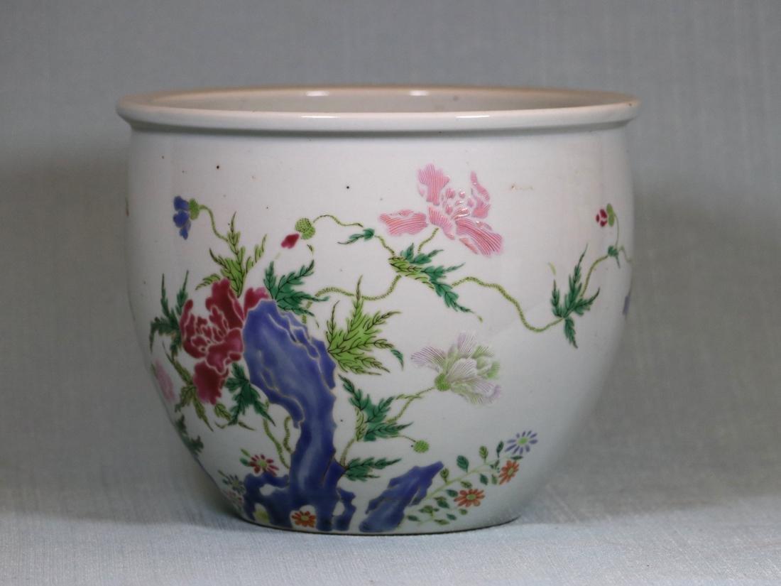 Chinese Famille Rose Porcelain Scholar Fishbowl - 3