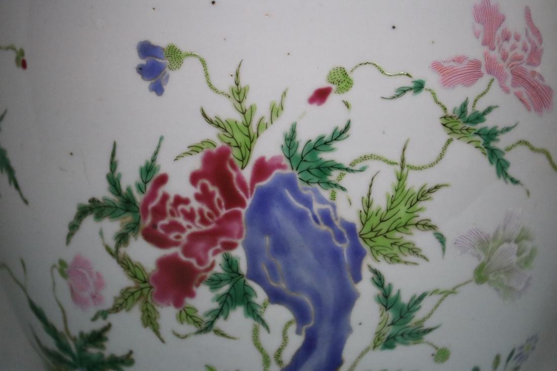 Chinese Famille Rose Porcelain Scholar Fishbowl - 4