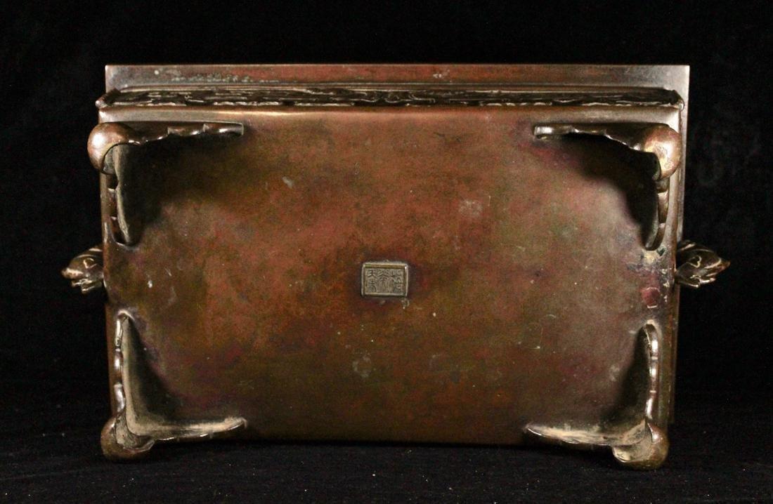 Fine Japanese Bronze Bonzai Planter - 6