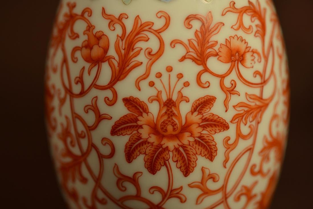 Chinese Porcelain Ovoid Shaped Vase with Stand - 3