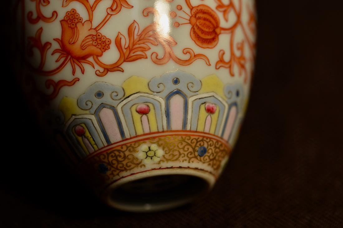 Chinese Porcelain Ovoid Shaped Vase with Stand - 5
