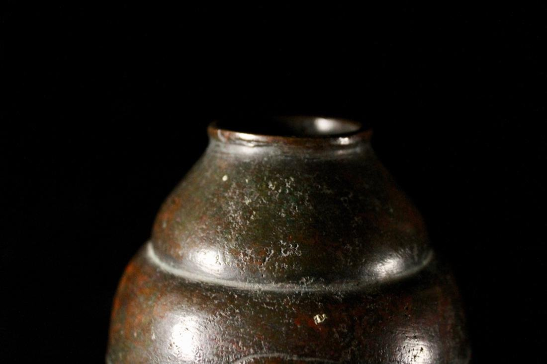 Japanese Bronze Vase by Grass Cloud Zhi - 3