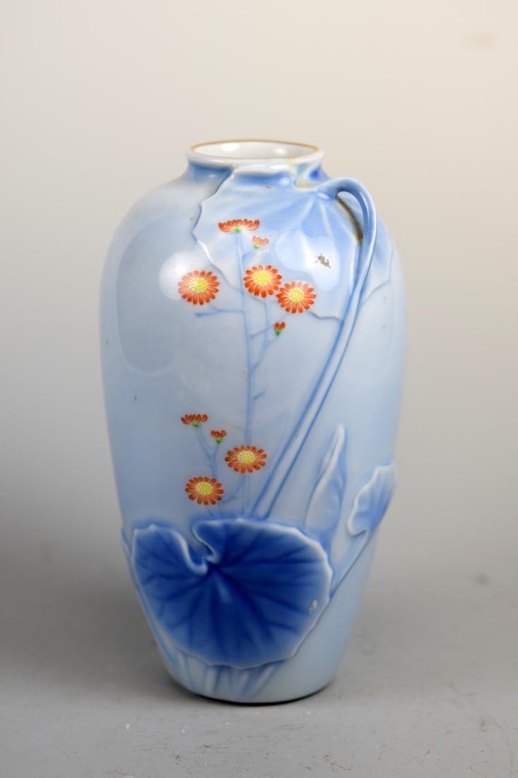 Japanese Studio Porcelain Vase by Fukugawa