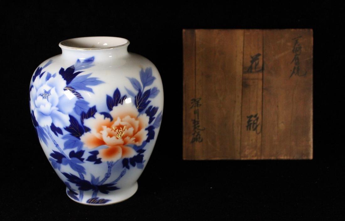 Japanese Cloisonne Vase with Goldstone