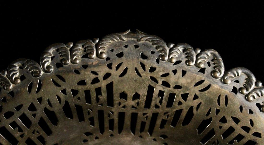 Japanese Sterling Silver Basket with Reticulate Design - 5