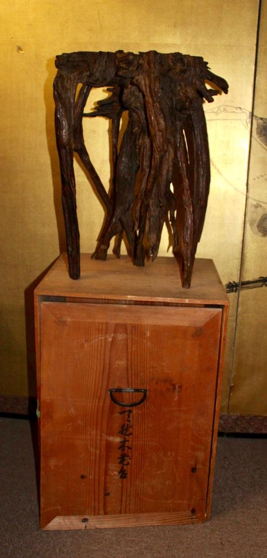 Chinese Rootwood Scholar Censer Stand - Presentation