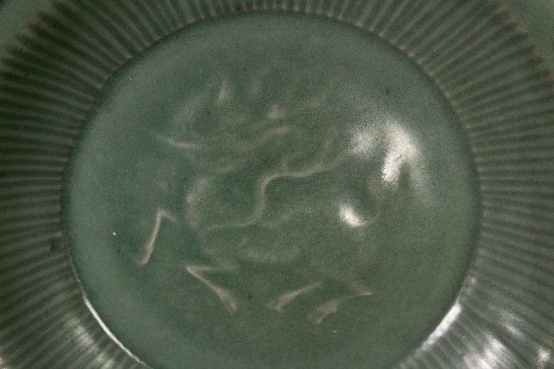 Chinese Song / Yuan Celadon Porcelain Dish with Kirin - 2
