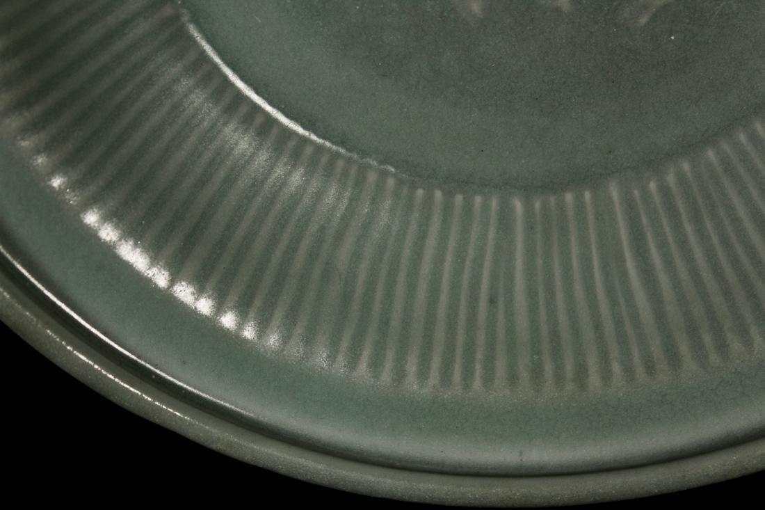 Chinese Song / Yuan Celadon Porcelain Dish with Kirin - 3