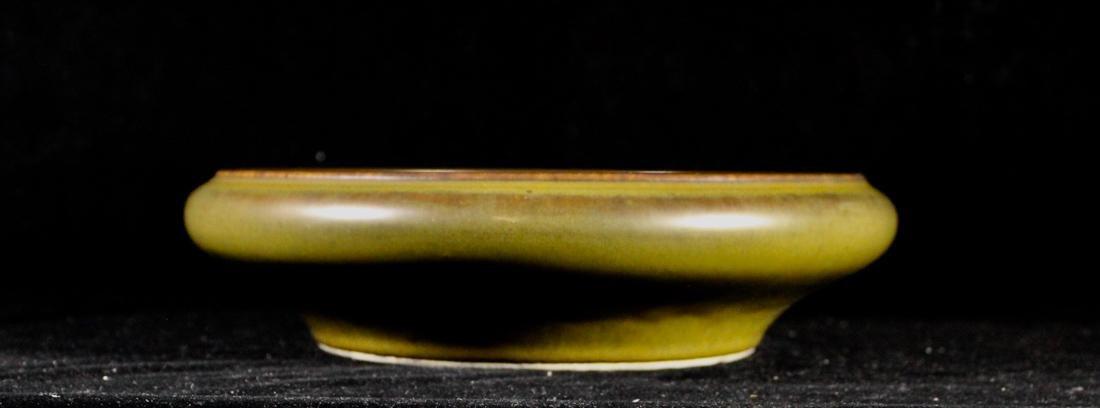 Chinese Teadust Glazed Porcelain Brush Washer with - 3