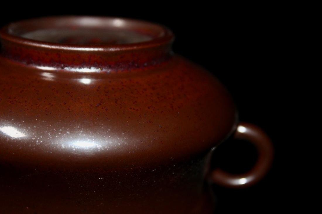 18th cen Chinese Iron Rust Glazed Porcelain Censer with - 10