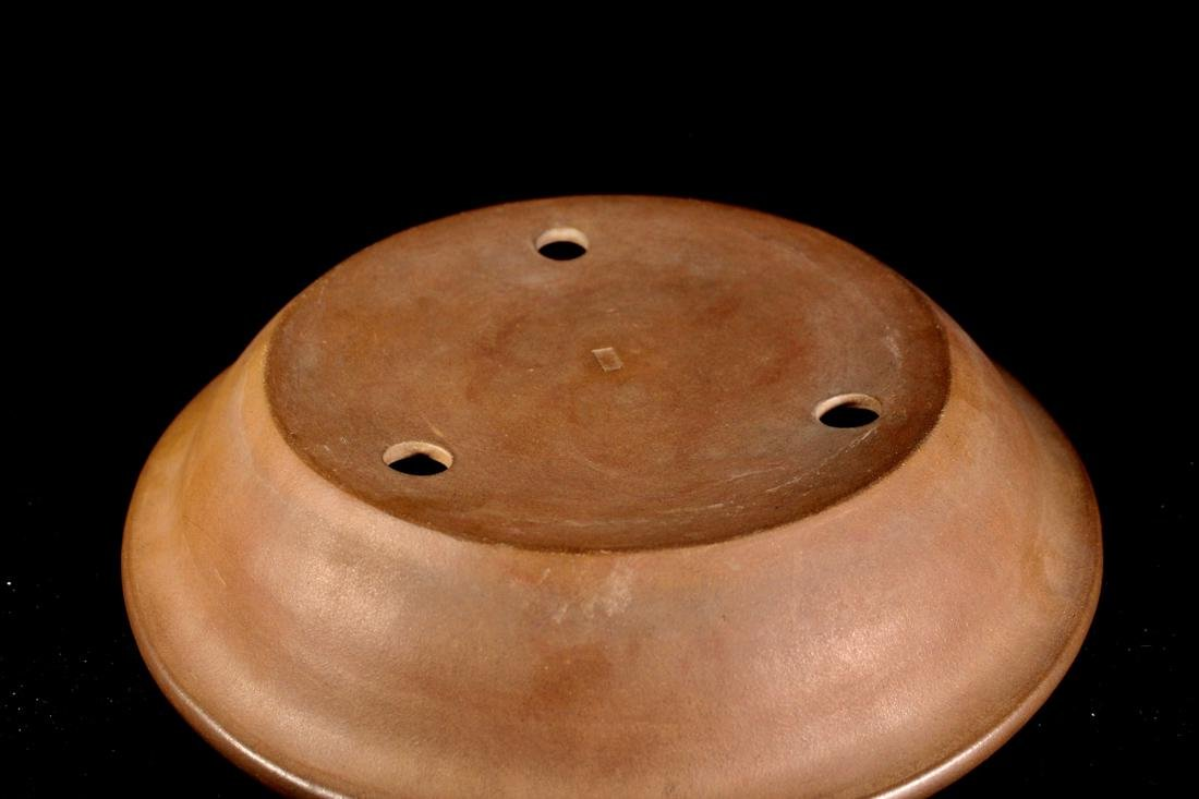 Chinese Yixing Clay Round Basin - 6