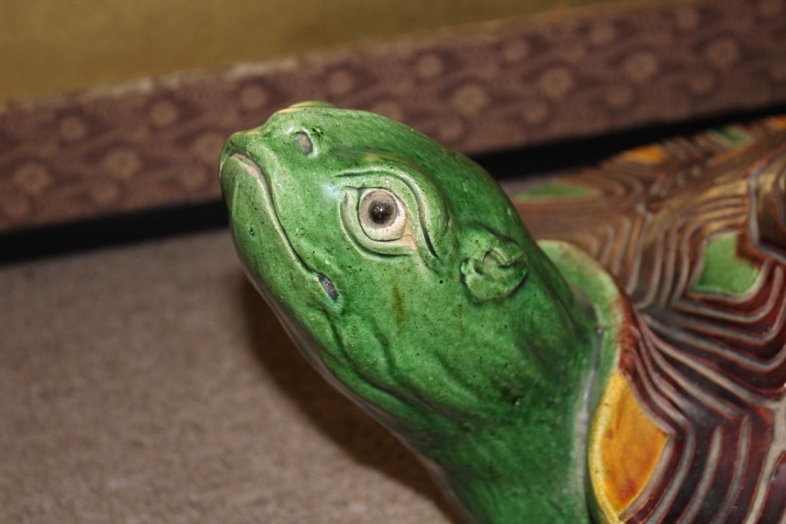 Large Chinese Sancai Pottery Turtle - 2
