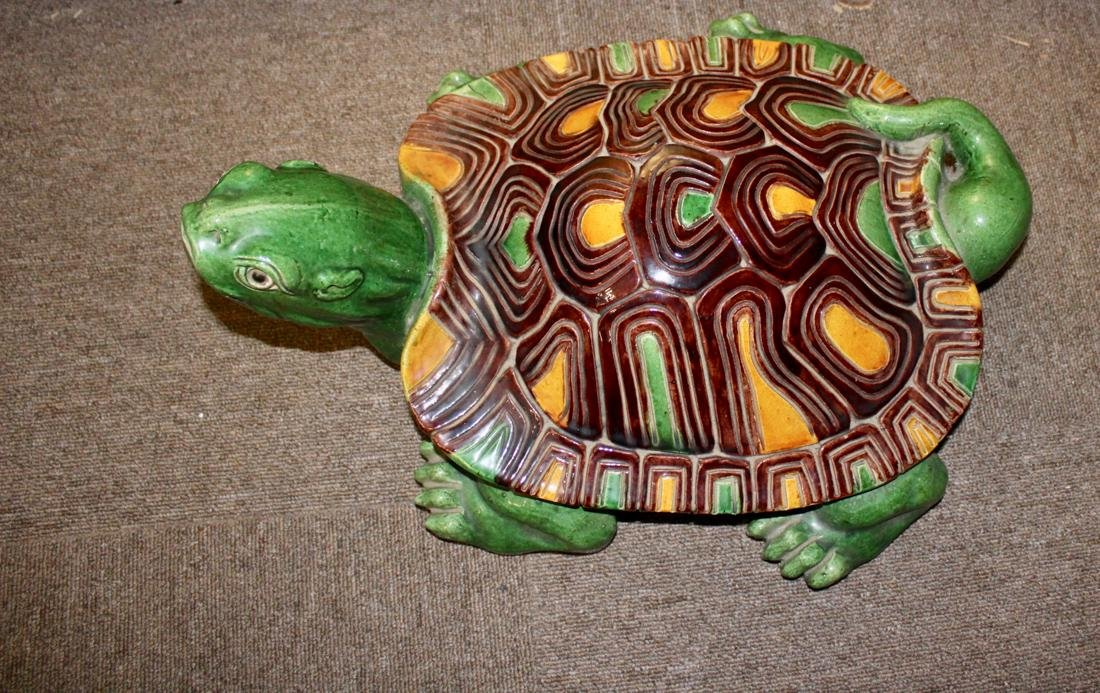 Large Chinese Sancai Pottery Turtle - 3