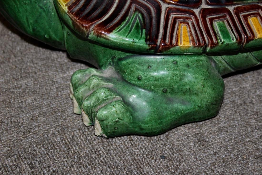 Large Chinese Sancai Pottery Turtle - 5