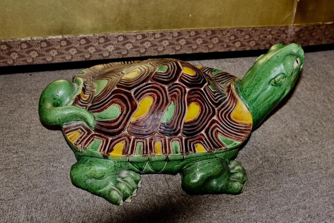 Large Chinese Sancai Pottery Turtle - 6