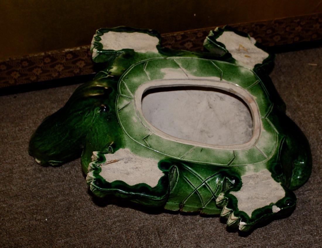 Large Chinese Sancai Pottery Turtle - 9