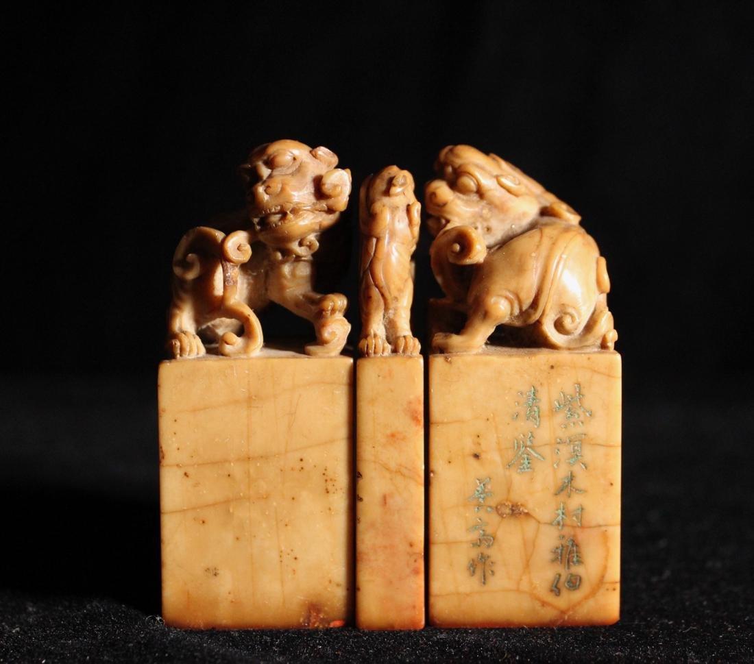 Set of Three Chinese Shousan Seals
