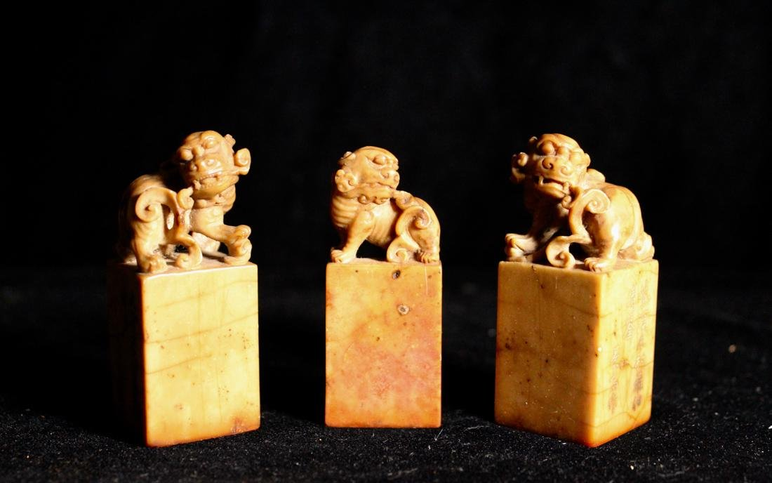 Set of Three Chinese Shousan Seals - 2