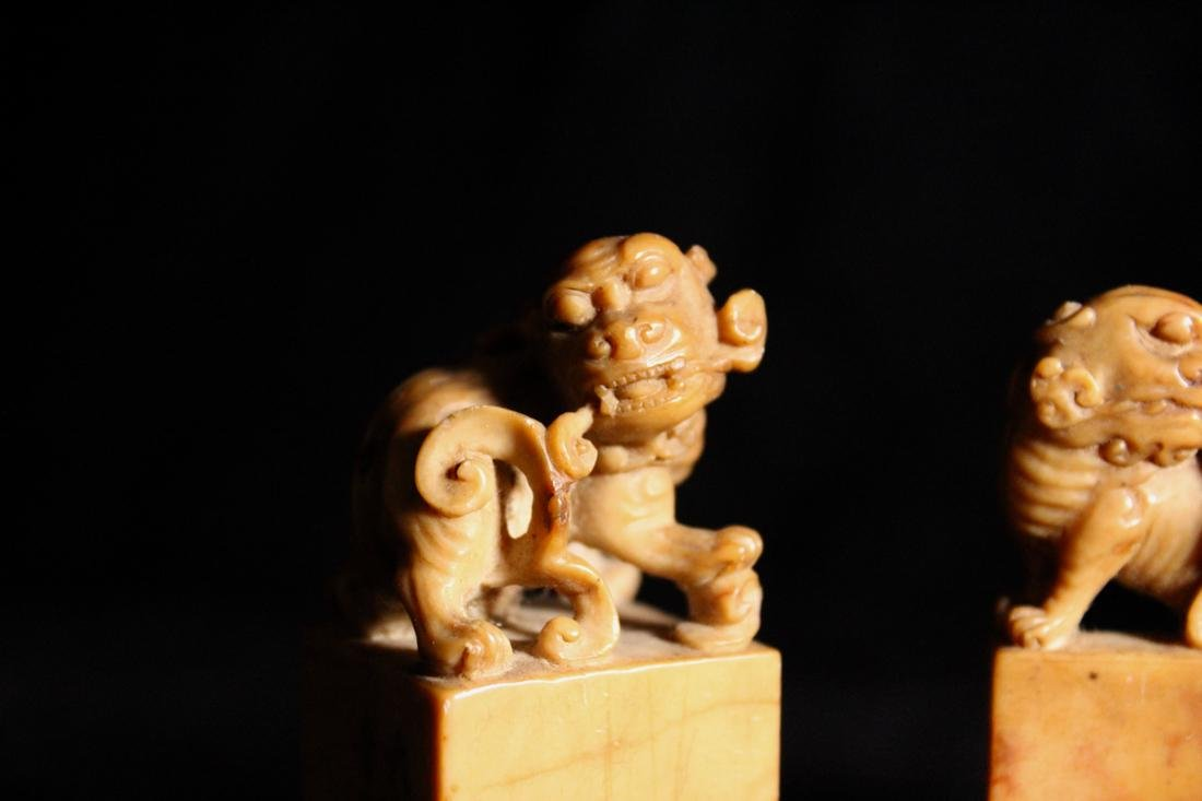 Set of Three Chinese Shousan Seals - 4