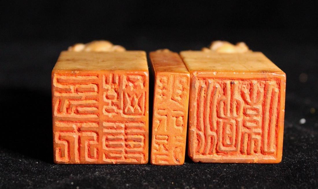 Set of Three Chinese Shousan Seals - 8
