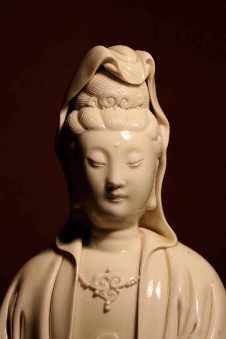 Chinese Blanc de Chine Porcelain Kuanyin of Standing - 2