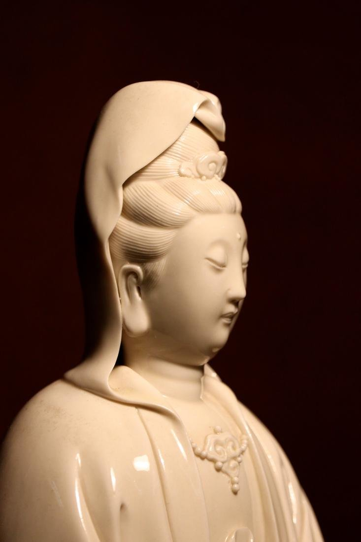Chinese Blanc de Chine Porcelain Kuanyin of Standing - 6