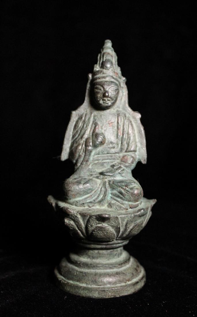 Chinese Tang Bronze Seated Buddha