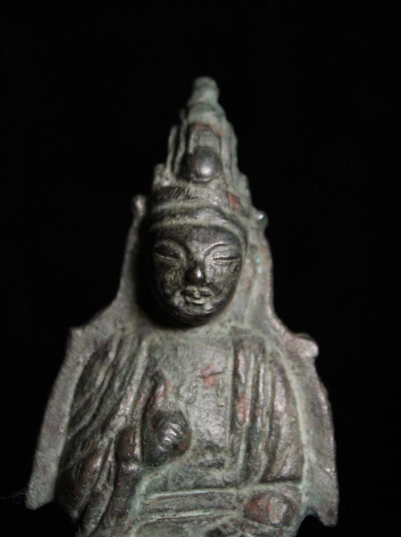 Chinese Tang Bronze Seated Buddha - 2