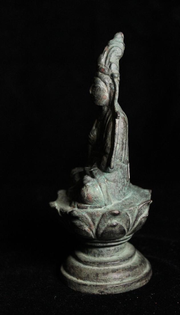 Chinese Tang Bronze Seated Buddha - 4