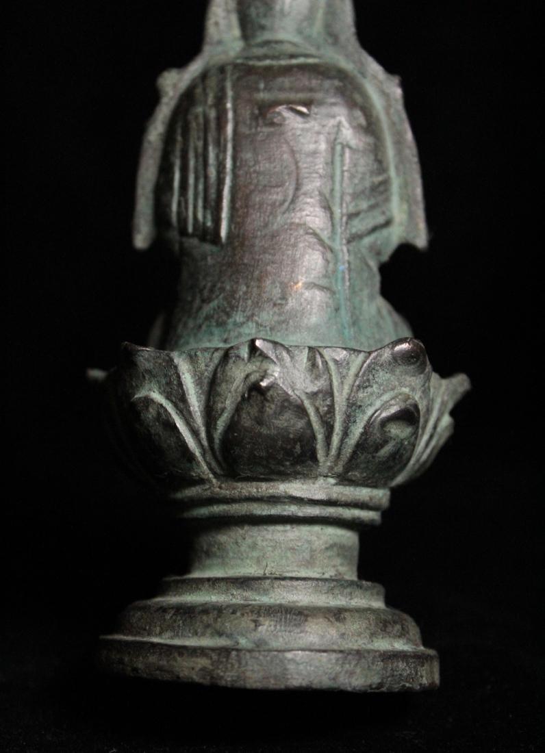 Chinese Tang Bronze Seated Buddha - 6