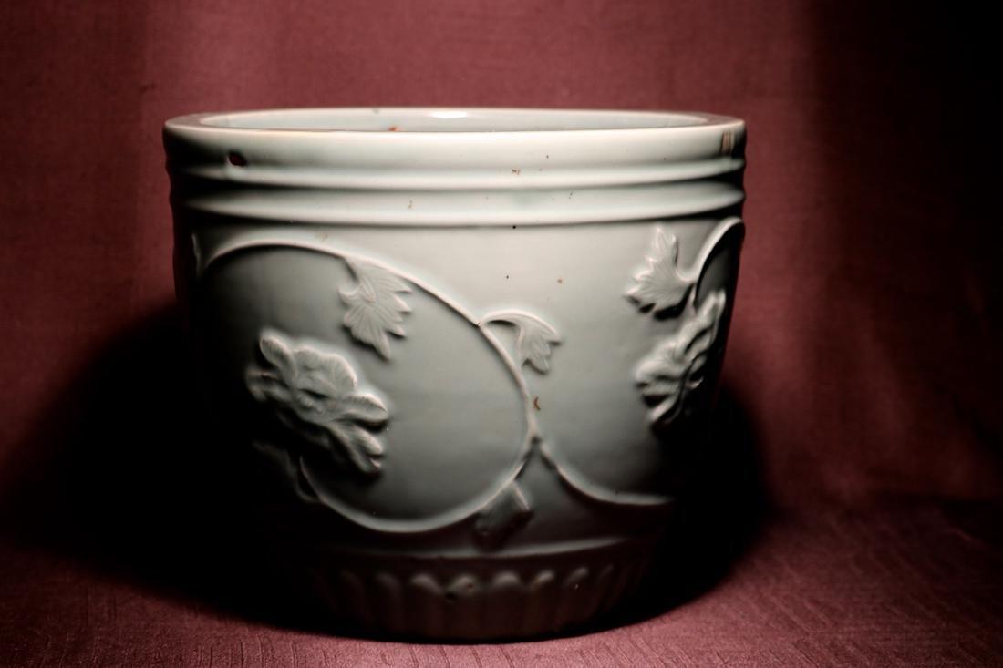 Chinese Ming Porcelain Celadon Fishbowl - 3