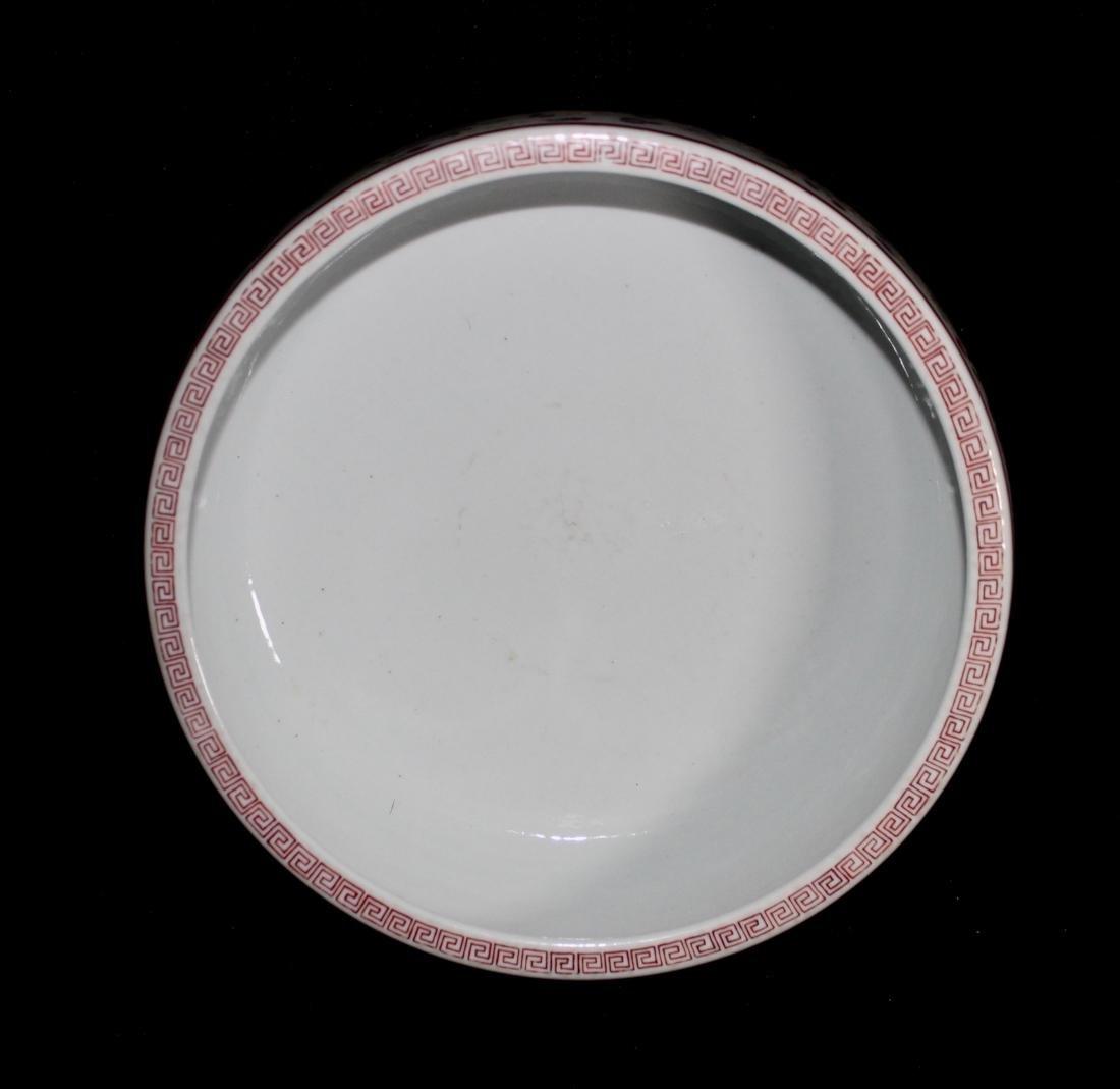 Chinese Porcelain Brushwasher with Crane Motif - - 4