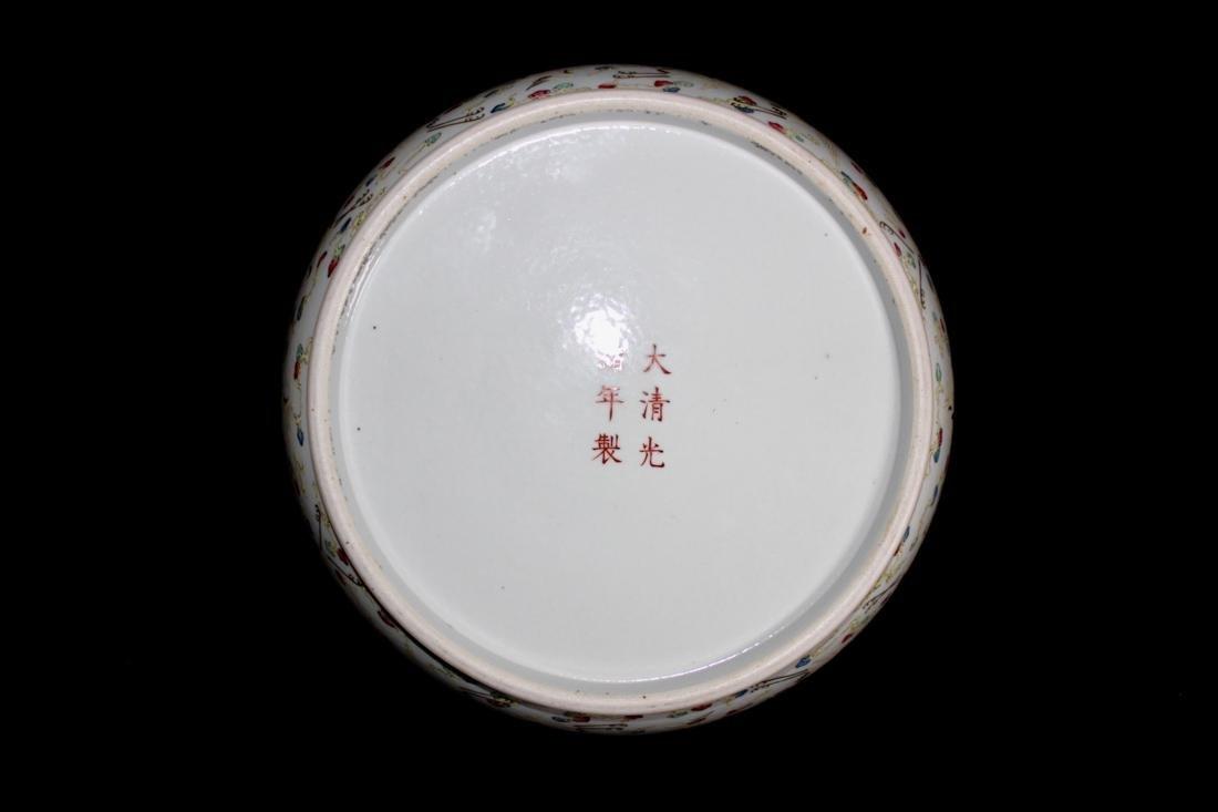 Chinese Porcelain Brushwasher with Crane Motif - - 7