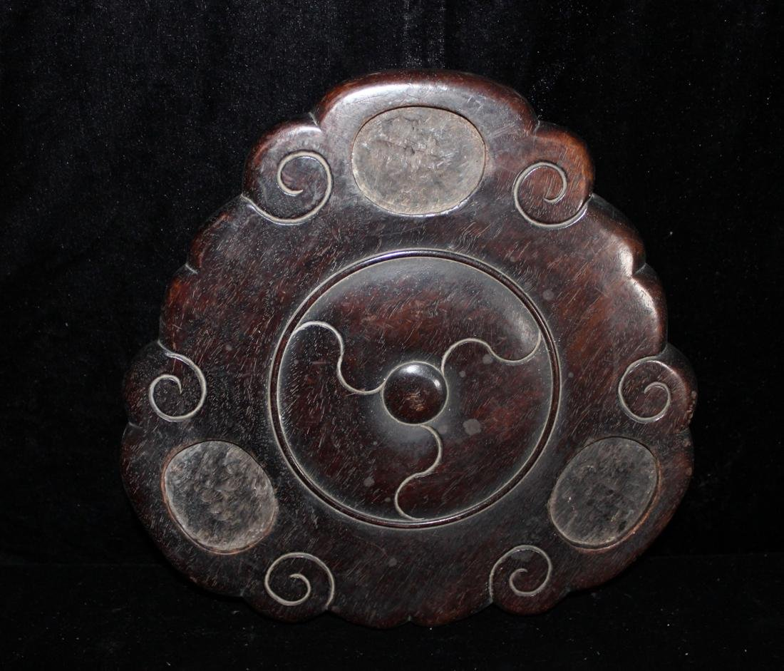 Large Chinese Bronze Censer with Wood Base - Bao Rong - 9