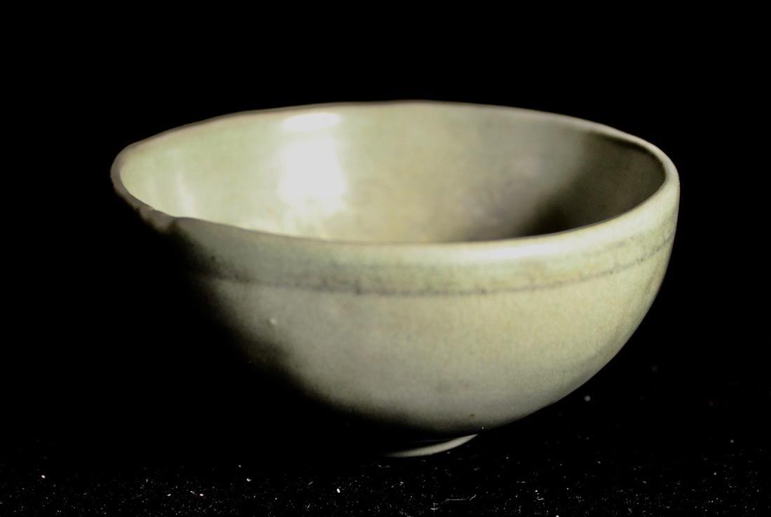Early Korean Celadon Bowl - Boy Scene