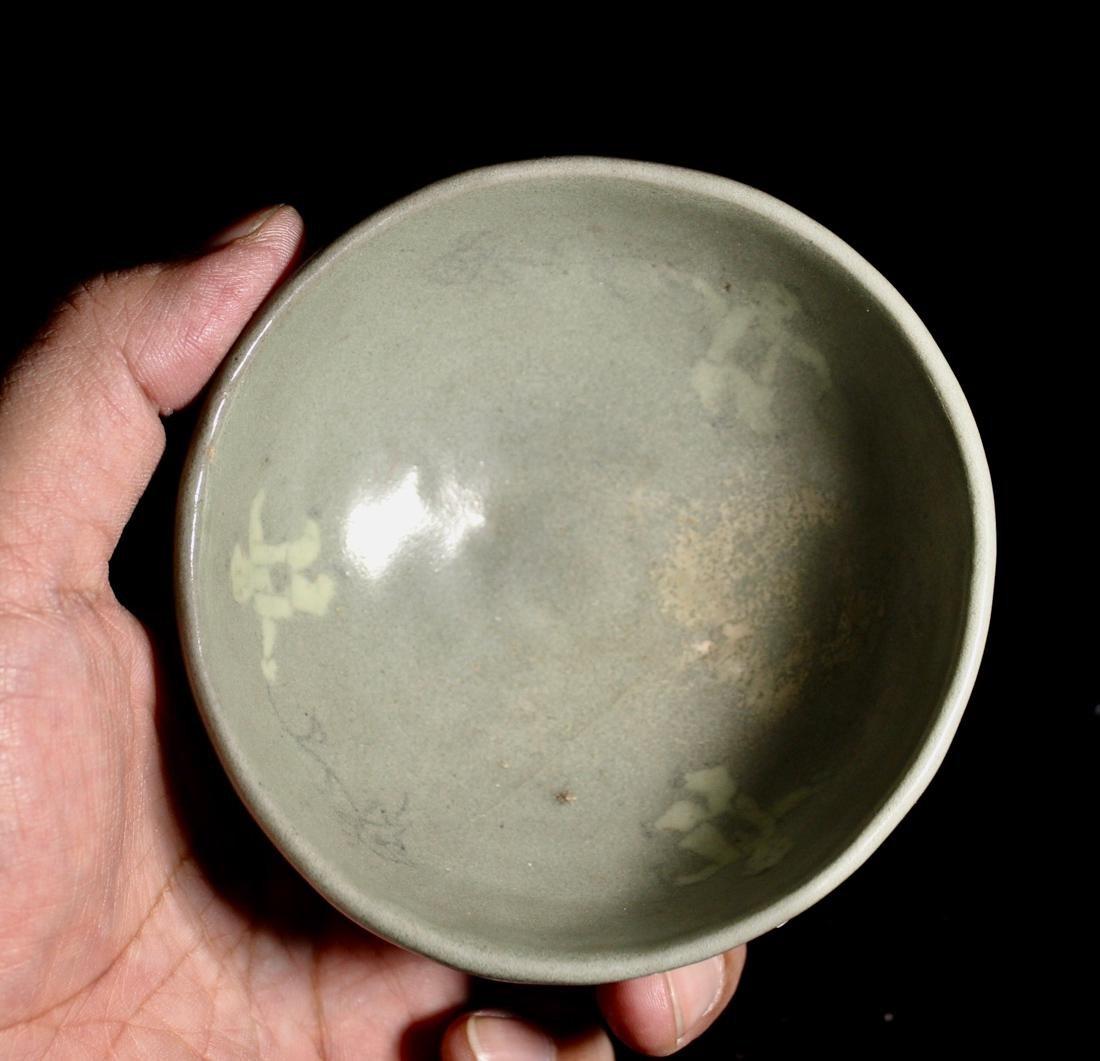 Early Korean Celadon Bowl - Boy Scene - 2