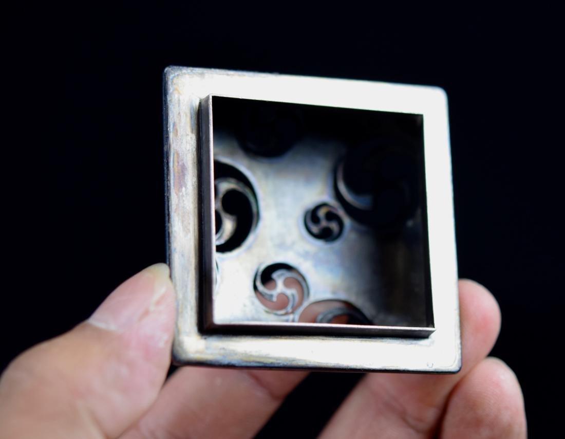 Japanese White Porcelain Censer with Silver Lid - 4