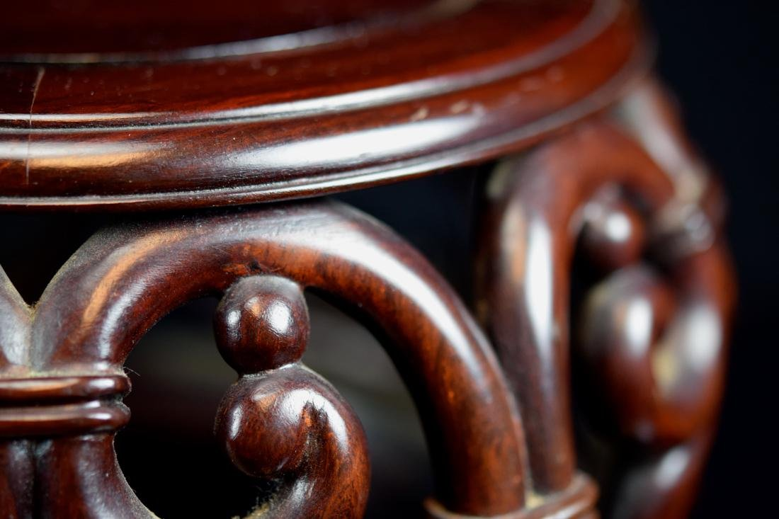Chinese Rosewood Drum Shaped Stand - 3